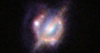 Astronomers stitch together best view yet of distant galactic merger