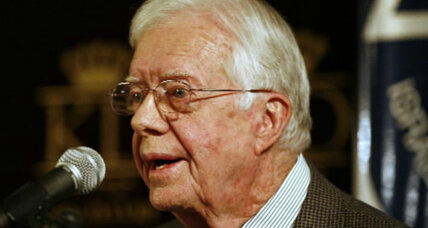 Why is Jimmy Carter speaking at Muslim convention?