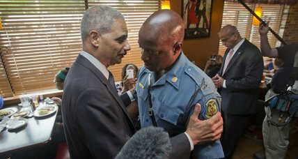 Eric Holder visits Ferguson. Will US take over Michael Brown case?