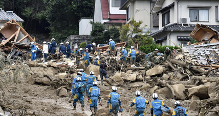 At least 36 dead following mudslides in Japan