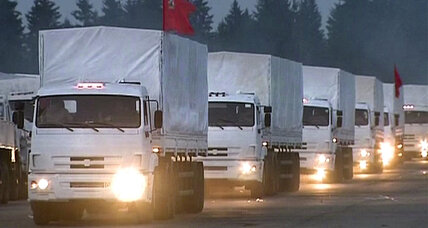Suspicions greet Russian convoy on humanitarian mission to eastern Ukraine