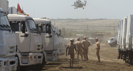 Trojan horse? Russia aid convoy rattles nerves as it rumbles toward Ukraine (+video)