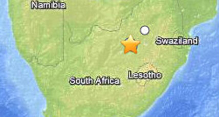 South Africa earthquake: One dead and miners trapped below surface