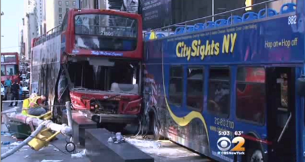 Driver of double-decker bus may have been impaired