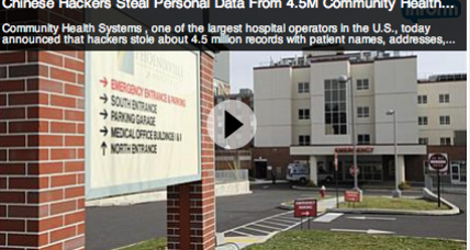 Community Health Systems hacked; over 4 million patient files breached