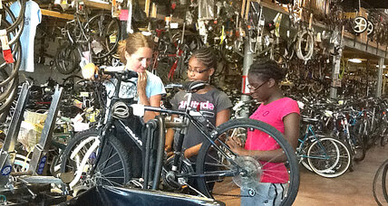 Kerri Martin mixes bike repair with on-the-job training