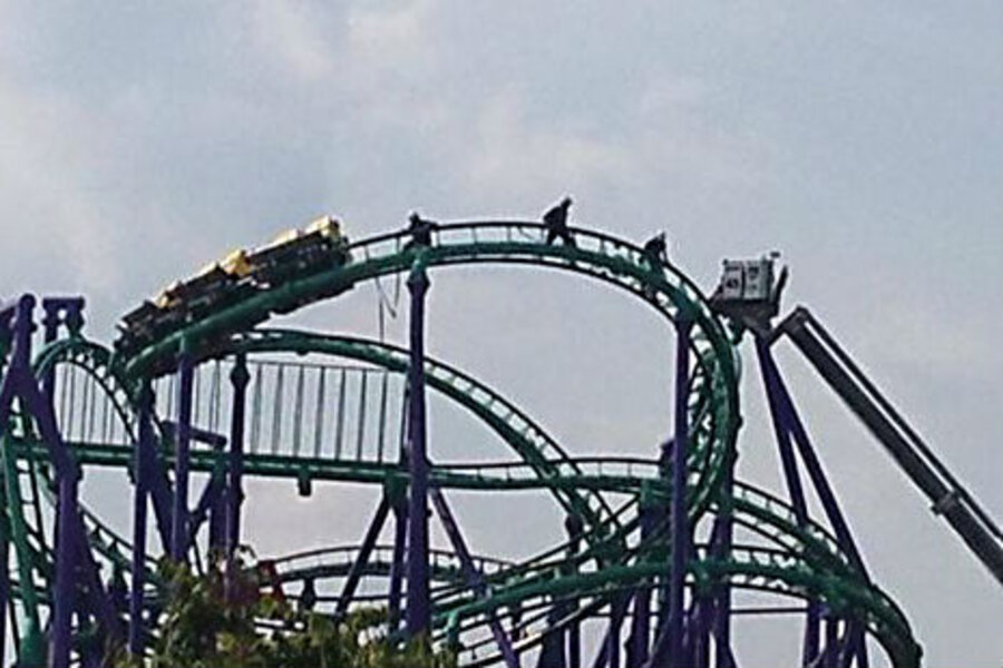 After Five Hours All P Engers Rescued From Six Flags Roller Coaster