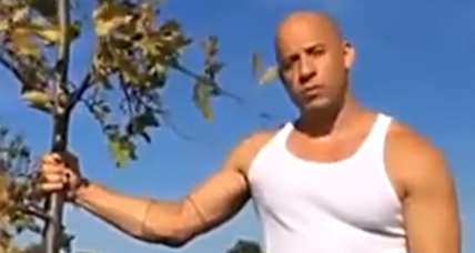 Vin Diesel redirects ice bucket challenge: 'Plant a tree for Groot' (+video)
