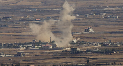 Syria attacks militants near Golan Heights border crossing