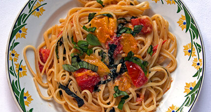 Garden cooking: Linguine with tomatoes, ricotta and basil