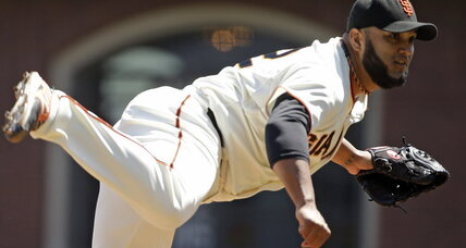 Yusmeiro Petit, pitcher for the San Francisco Giants, sets MLB record