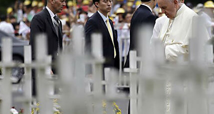 Pope makes silent anti-abortion statement in South Korea