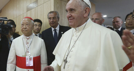 Pope Francis calls for peace on Korean peninsula, while North launches projectiles