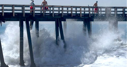Tropical storm Marie sends huge waves to Southern California