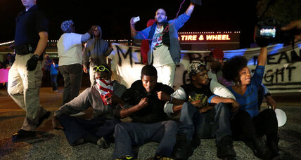 Ferguson tensions flare after police chief tries to join protesters