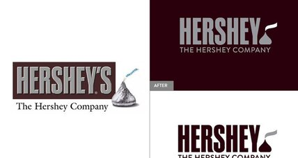 Hershey's new logo is sealed with a Kiss