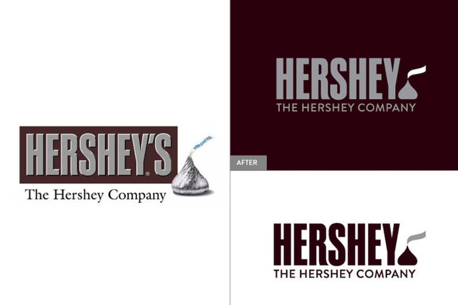Hershey's new logo is sealed with a Kiss - CSMonitor.com