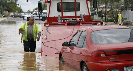 Southwest flooding: more rains in store for Arizona, Utah (+video)