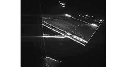 European spacecraft snaps selfie with comet in background