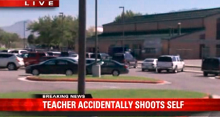 Schoolteacher accidentally shoots self in leg at Utah school