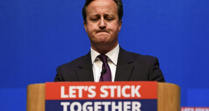 David Cameron to Scottish voters: 'Let's stick together'