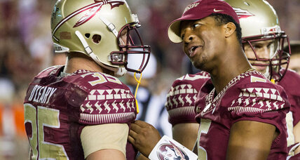 Why did suspended Jameis Winston suit up for game? Because he's a kid (+video)