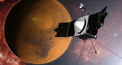 NASA's Maven explorer arrives at Mars after a year-long journey (+video)