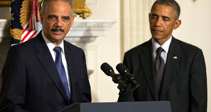 For Eric Holder, a broad legacy ranging from race to terror (+video)