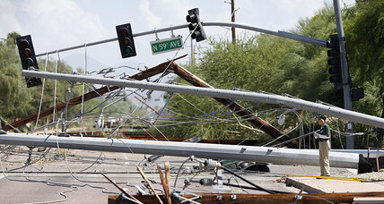Phoenix storms: Residents clean up after damaging storms