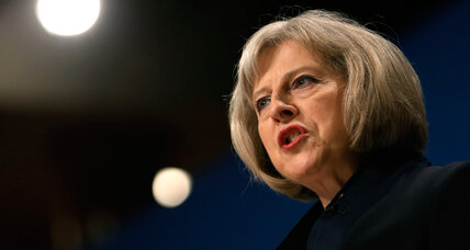 UK's Theresa May seeks TV, social media ban on extremists views