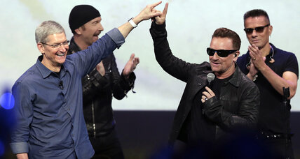 Apple's other surprise: New U2 album, free on iTunes