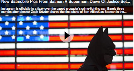 Batmobile From 'Batman v Superman: Dawn Of Justice' revealed (+video)