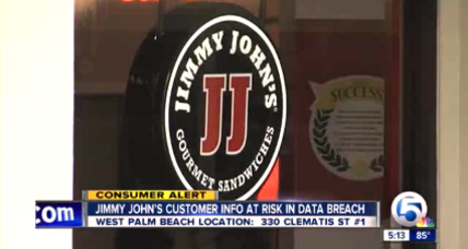 Jimmy John's hacked at 216 restaurants in 40 states