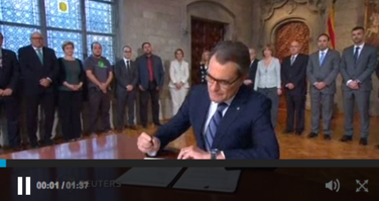 Leader of Catalonia calls for independence referendum (+video)