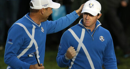 Europe takes first day of Ryder Cup from US