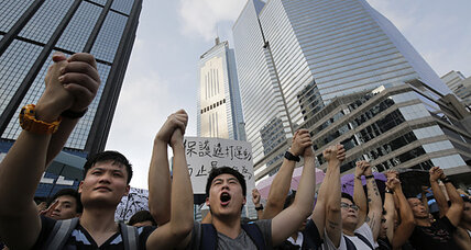 Hong Kong protestors use FireChat to text without cell service