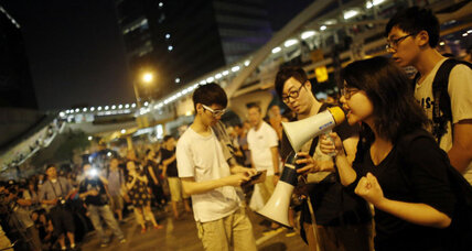 Hong Kong protesters agree to partial retreat – but demonstrators still out in force