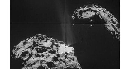 European spacecraft catches comet belching (+video)