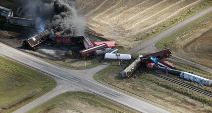 CN train derailment: petroleum cars catch fire in Saskatchewan