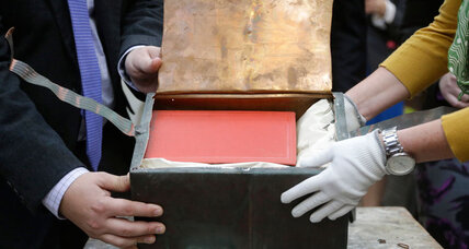 113-year-old Boston time capsule opened, 'in remarkably good condition'