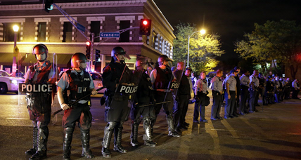 St. Louis protesters face off with police for second night