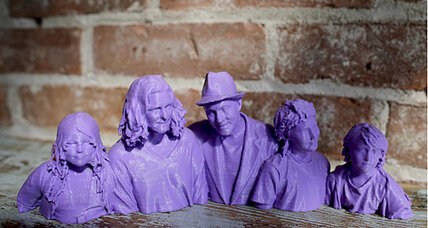 The newest form of a selfie: 3-D printed statues