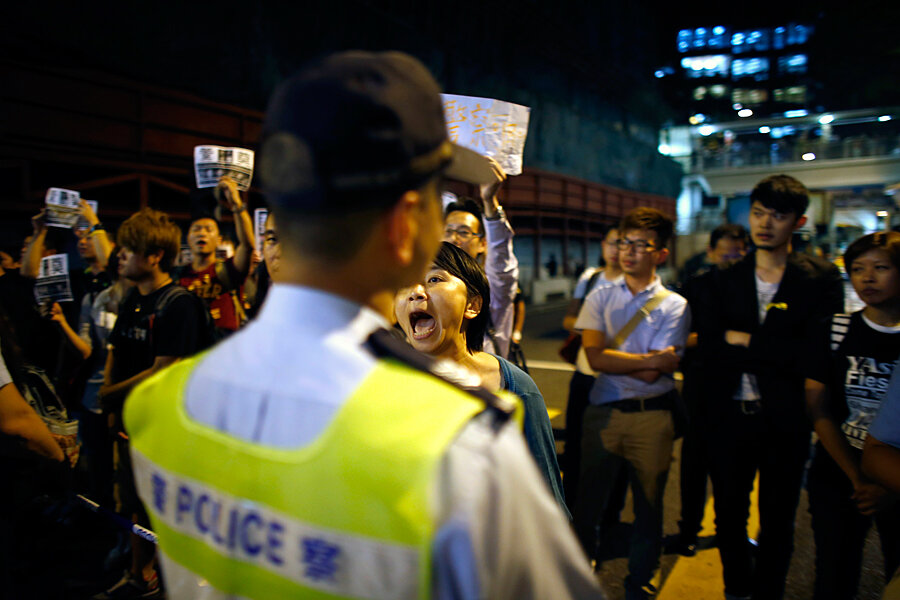 video of hong kong police beating riles protest movement. Black Bedroom Furniture Sets. Home Design Ideas