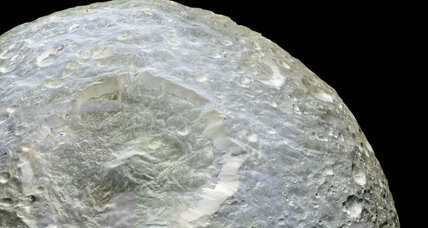 Does Saturn's moon Mimas have an ocean under its icy surface?