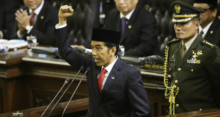 Indonesia swears in Widodo as president amid stiff political resistance