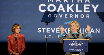 Hillary Clinton rallies supporters for Martha Coakley, focuses on family issues