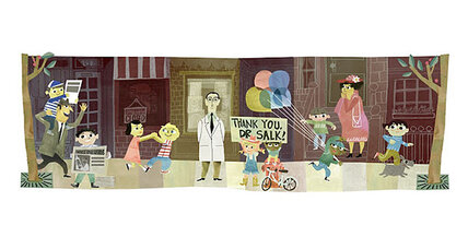 Google Doodle celebrates pioneering doctor Jonas Salk (+video)