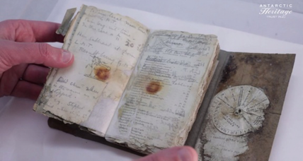 After a century on ice, a notebook sheds light on an Antarctic disaster (+video)