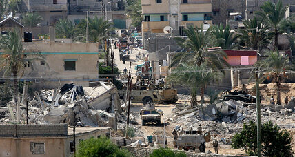 On isolated Gaza's southern flank, an Egyptian buffer zone takes shape (+video)