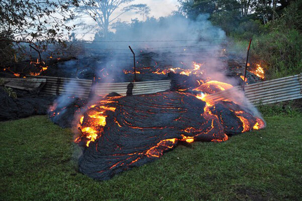 Hawaii lava flow how much damage can it do for How much to build a house in hawaii
